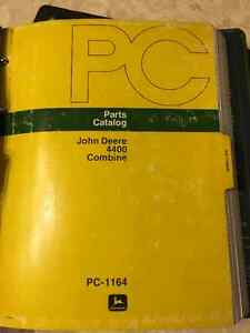 John Deere 4400 Combine Parts Manual Regina Regina Area image 1