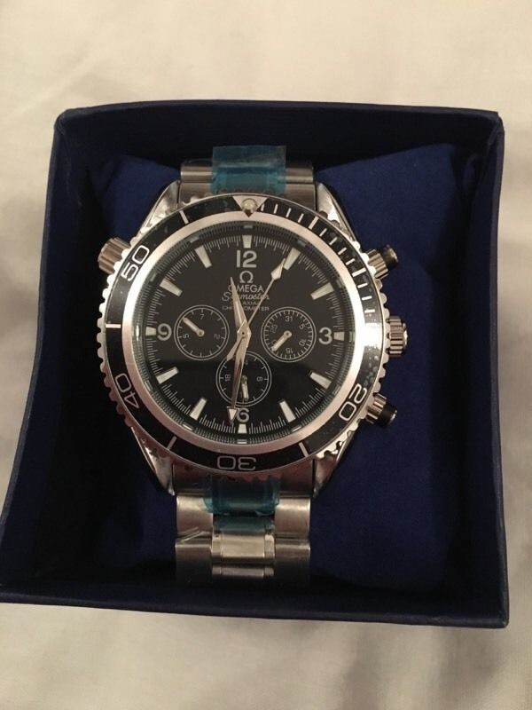 Omega Seamaster Planet Ocean, Automatic, Chronograph Watch, Boxed 1st Class Postage Availablein Chorlton, ManchesterGumtree - Omega Seamaster Planet Ocean Watch with Black Dial Automatic Self Winding Movement (Sweeping Needle) Fully Working Chronographs for Day/Date & 24 Hour Steel Strap still sealed High Quality Watch, not like all the cheap rubbish everyone else is...
