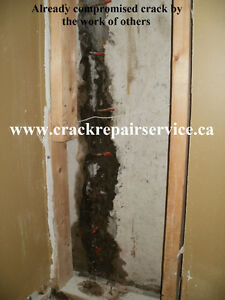 WET BASEMENT / FOUNDATION CRACK REPAIR SERVICE / KITCHENER AREA