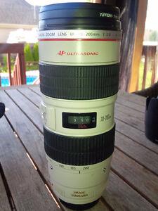 Canon EF 70-200mm f/2.8L IS USM et accessoires