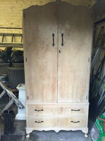 French style wardrobe with double doors and two drawers