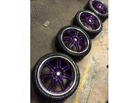 19 inch Kei 5x114.3 jap alloy wheels and tyres