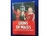 Lions of Wales rugby British Lions rare HB Book
