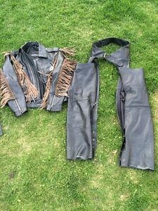 Leather riding gear women's and men's