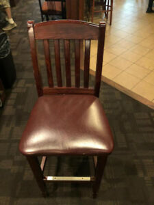 Wooden High Chairs/ Metal Bar Dining Chairs/ Patio Bar Chairs