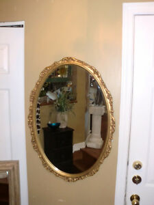 Home decor - Gold frame Oval Accent Mirror (23 by 32 inches)
