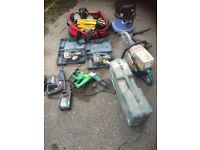 Job lot of power tools