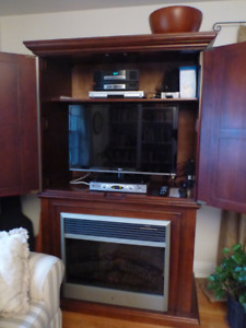 ARMOIRE - HOME THEATER/ELECTRIC FIREPLACE