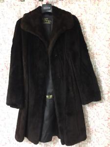 Genuine Shirred Beaver Fur Coat