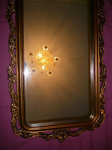 "Superbe miroir antique/1940, style Louis XVI, grand 27""x60"" doré West Island Greater Montréal image 8"