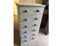 Up Cycled Solid Pine Tall Chest of Drawers (Can Deliver)