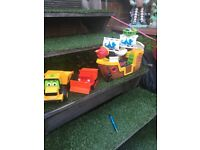Wee job lot of toys boat and 2 diggers