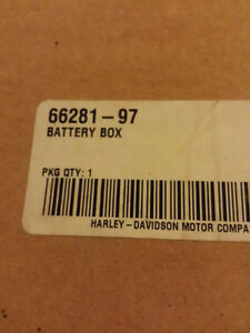 97-00 Harley Davidson Touring  BATTERY BOX NEW 66281-97