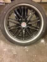 22 inch Rims with Rubber (low profile)