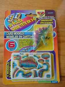 Brand new set of 6 dinosaur puzzle model kits toy London Ontario image 1