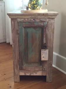Rustic reclaimed distressed cabinet
