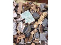 Hardcore rubble driveway bricks and blocks