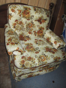 Floral print couch and chair