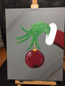 Grinch Hand Painting