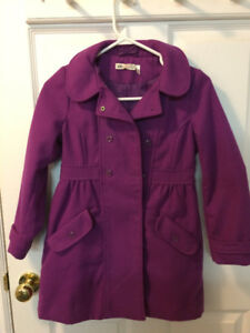 Fushsia/Purple cloth coat, Size 6-6x. $12.00