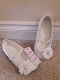 Children's christening shoes