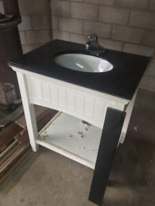 Bathroom Vanity - Granite Counter with Sink and Faucet