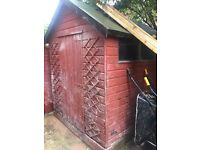 6 by 8 wooden shed