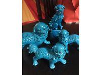 Chinese Blue lion dog figurine