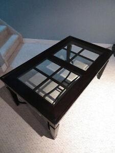 Rustic Glass/Wood Coffee table