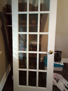 French door with beveled glass