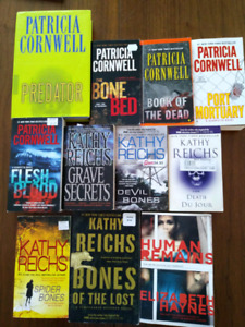 10 Patricia Cornwell, Kathy Reichs crime / mystery books