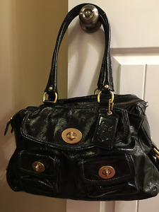 Coach Patent Leather Bag Black Great condition!