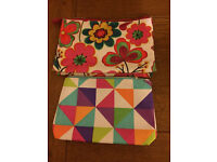 4 cosmetic makeup bags - all new/unused