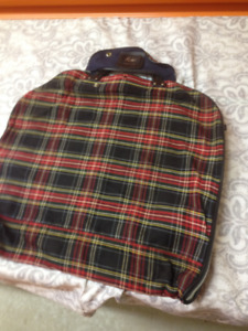 Vintage Plaid Suitcase