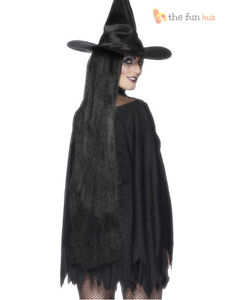 Ladies-36-Extra-Long-Straight-Black-Wig-Witch-Fancy-Dress-Halloween-Morticia