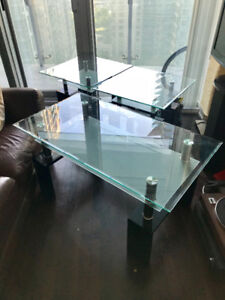 Glass Table Set (Coffee Table & 2 end tables)