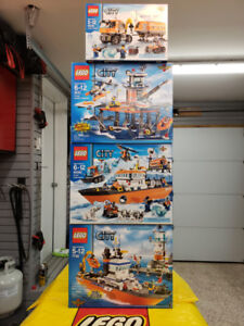 Brand New, Sealed LEGO City Coast Guard & Arctic Retired Sets