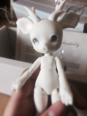 1/8 BJD doll dolls cute deer +horn white color no make up Resin