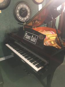Beautiful baby grand piano