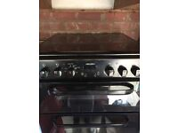 Electric Cooker & Hob in Black 6 months old in VGC