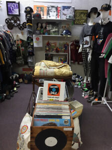 Vintage Clothing, Records, T-Shirts, Hats, Converse and more!