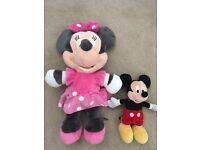 Micky and Minnie Mouse soft toys