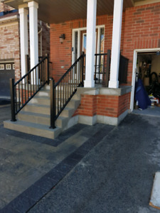 Vinyl and Aluminum railings and columns