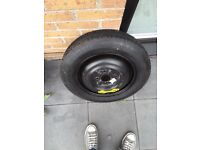 """15"""", 4 STUD SPACE SAVER SPARE WHEEL AND TYRE T 125/90/R15"""