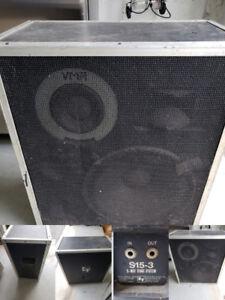 EV Electrovoice Stage Speakers(2)        s15-3 3way stage speake