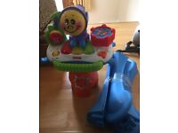 Fisher price microphone and music stand lights music action