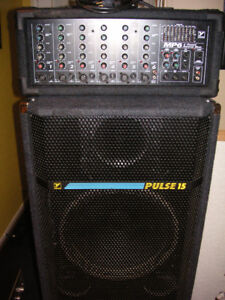 Yorkville Powered mixer with speakers