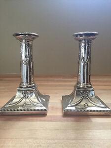 Sterling silver candlesticks, 1896 Cambridge Kitchener Area image 5