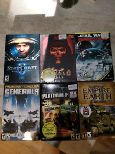 Assorted PC video games star wars diablo