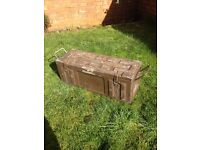 WWII 2 large British army ammo box chest